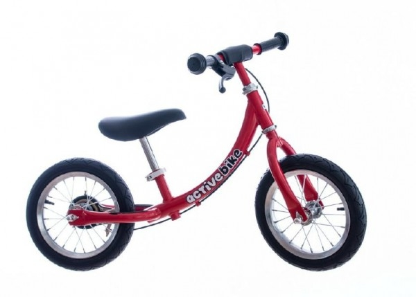 """Teddies Odrážadlo červené kov 12 """"nosnosť 30kg v krabici Active Bike 2+"""