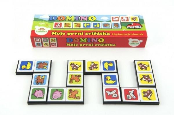 Teddies Domino Moje prvé zvieratká 28ks spoločenská hra v krabičke 21x6x3cm