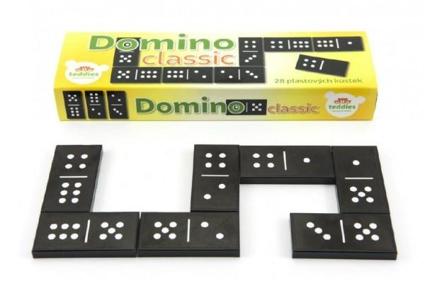 Teddies Domino Classic 28ks spoločenská hra plast v krabičke 21x6x3cm