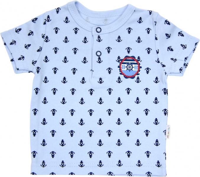 Polo tričko krátky rukáv Mamatti - Delfín kotvička-68 (4-6m)