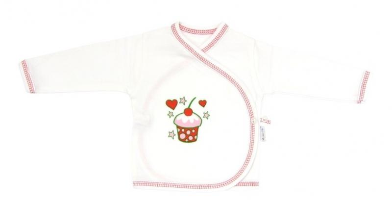 Novorodenecká košieľka Mamatti - Torta čerešnička, 62 (2-3m)