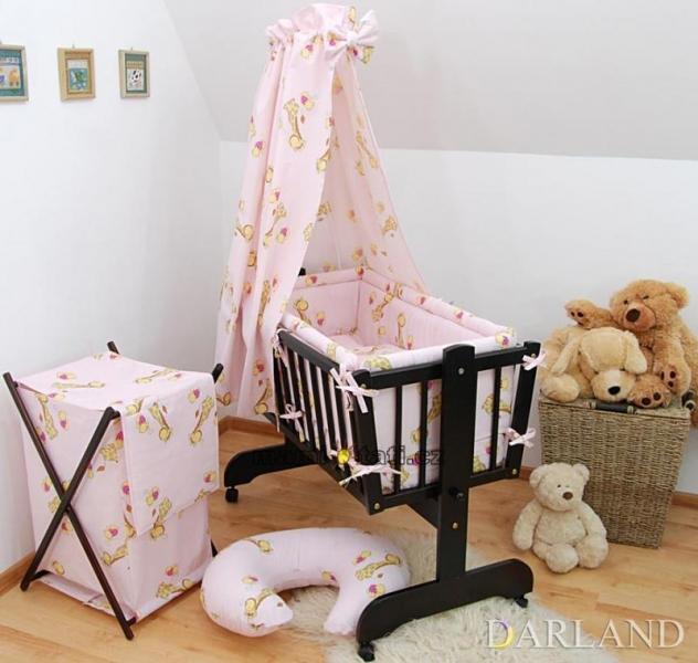 Krásny set do kolísky CL - Žirafky v ružovej