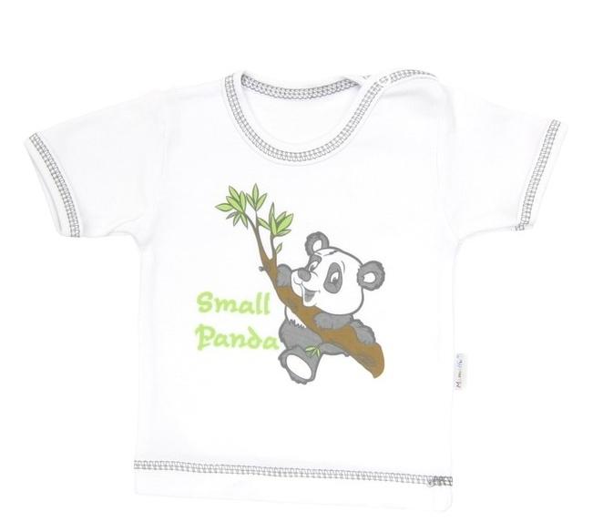Tričko / košieľka krátky rukáv Mamatti - Panda, 74 (6-9m)