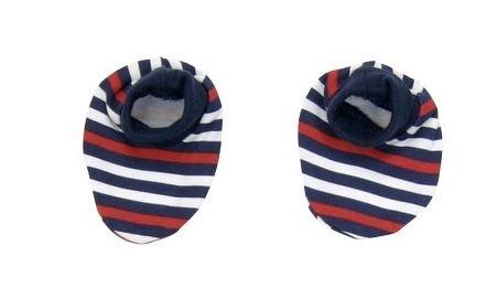 Topánočky / ponožtičky BAVLNA Mamatti - Panda prúžok