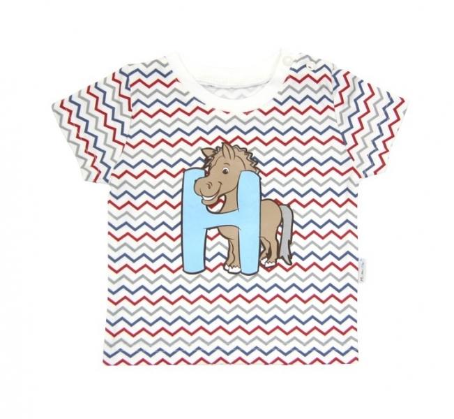 Tričko krátky rukáv Mamatti - Zvieratka zigzag-#Velikost koj. oblečení;68 (4-6m)