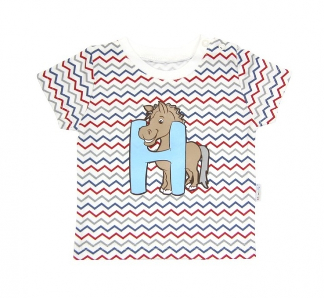 Tričko krátky rukáv Mamatti - Zvieratka zigzag-#Velikost koj. oblečení;74 (6-9m)