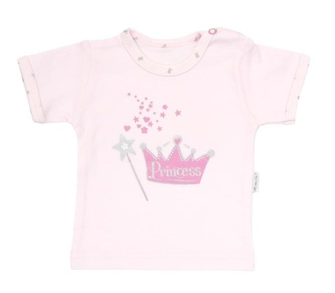 Tričko / košieľka krátky rukáv Mamatti - Princezná, 74 (6-9m)