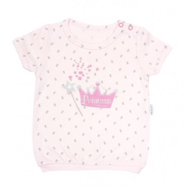 Tričko krátky rukáv Mamatti - Princezná, 86 (12-18m)