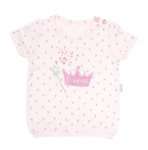 Tričko krátky rukáv Mamatti - Princezná, 98 (24-36m)