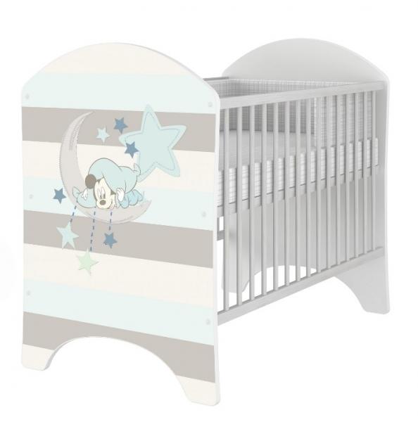 BabyBoo Dětská postieľka Disney Baby Mickey - 120x60cm