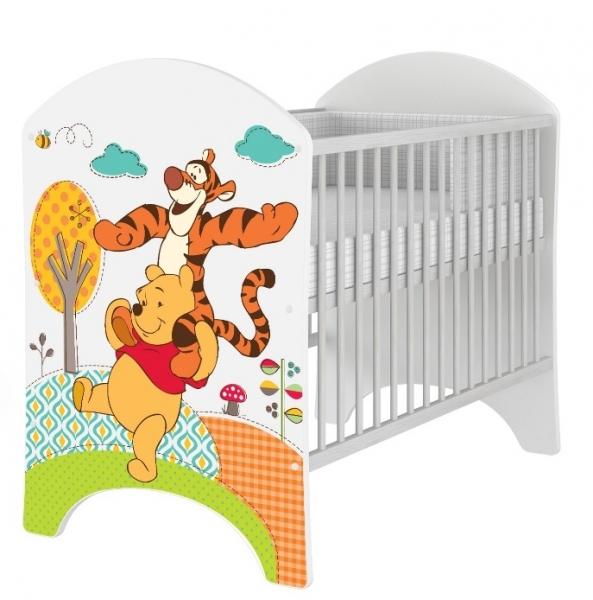 BabyBoo Detská postieľka Disney Medvedik PÚ a  Tygrík - 120x60 cm