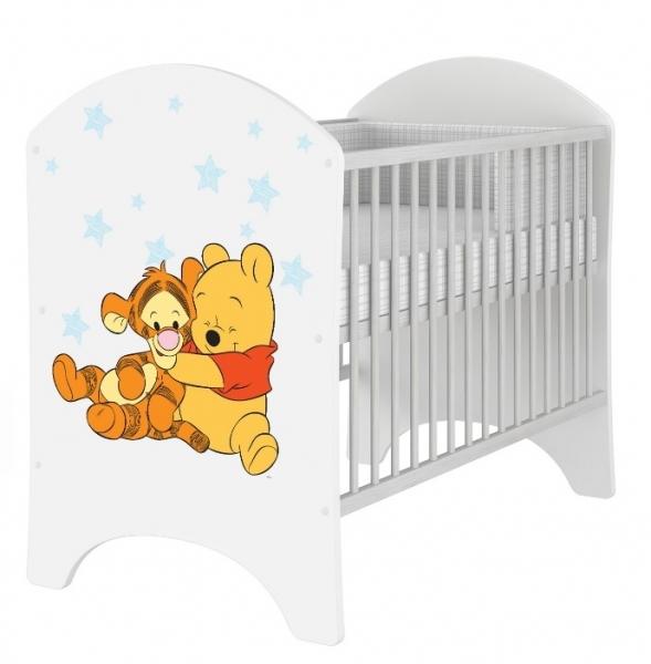 BabyBoo Detská postieľka Disney Medvedik PÚ Baby - 120x60 cm
