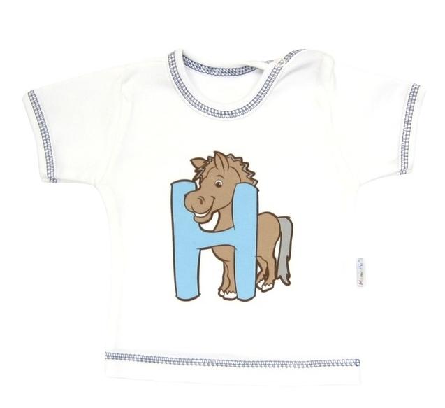 Tričko / košieľka krátky rukáv Mamatti - Zvieratka-68 (4-6m)