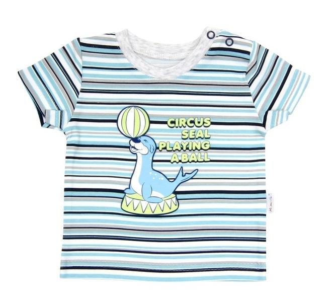 Tričko krátky rukáv Mamatti - Tuleň prúžok