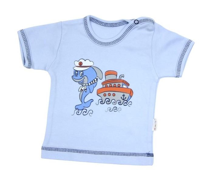 Tričko / košieľka krátky rukáv Mamatti - Delfín