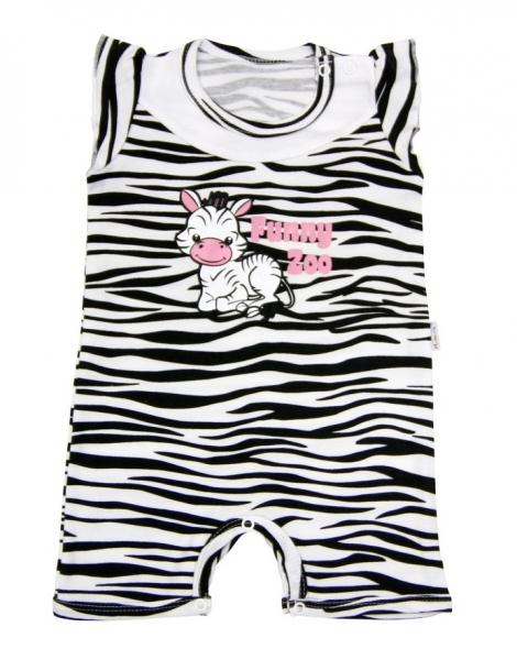 Body s nohavičkami Mamatti - Zebra v ZOO, 74 (6-9m)