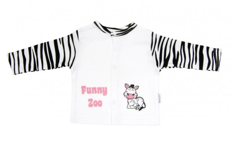 Bavlnená košieľka Mamatti - Zebra v ZOO-80 (9-12m)