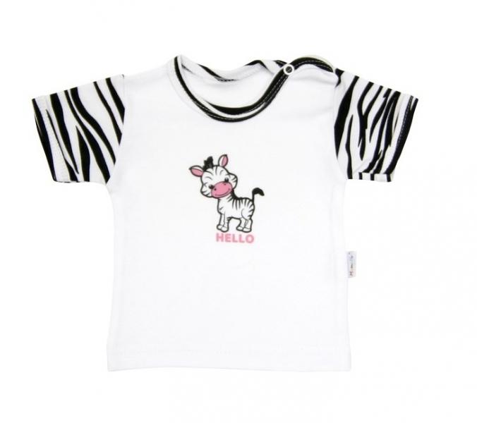 Tričko / košieľka krátky rukáv Mamatti - Zebra v ZOO, 86 (12-18m)