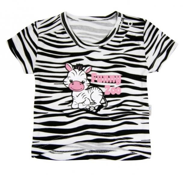 Tričko krátky rukáv Mamatti - Zebra v ZOO, 74 (6-9m)