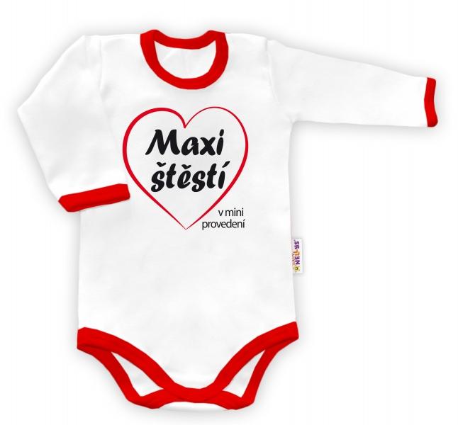 Baby Nellys Body dlhý rukáv vel. 74, Maxi štěstí