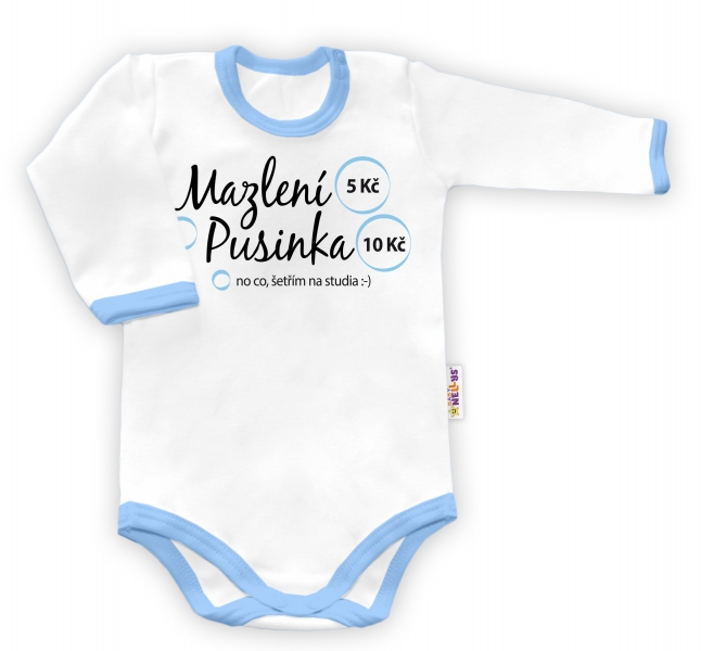 Baby Nellys Body dlhý rukáv vel. 86, Mazlení - chlapec-86 (12-18m)