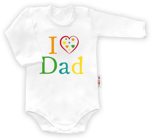 Baby Nellys Body dlhý rukáv vel.80, I love Dad