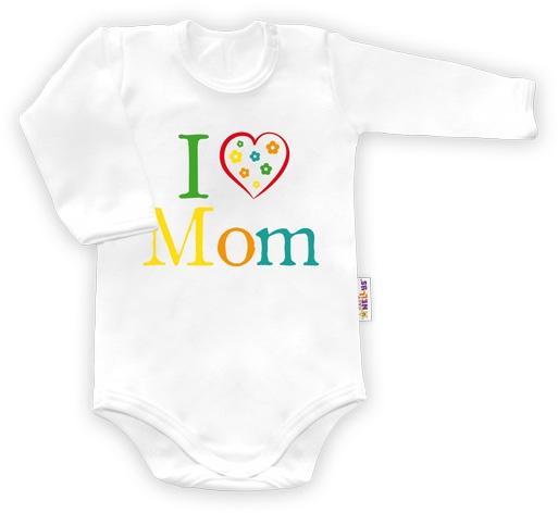 Baby Nellys Body dlhý rukáv vel. 56, I love Mom