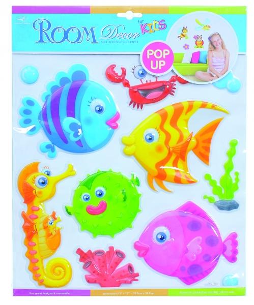 Detské samolepky na stenu POP UP - rybičky