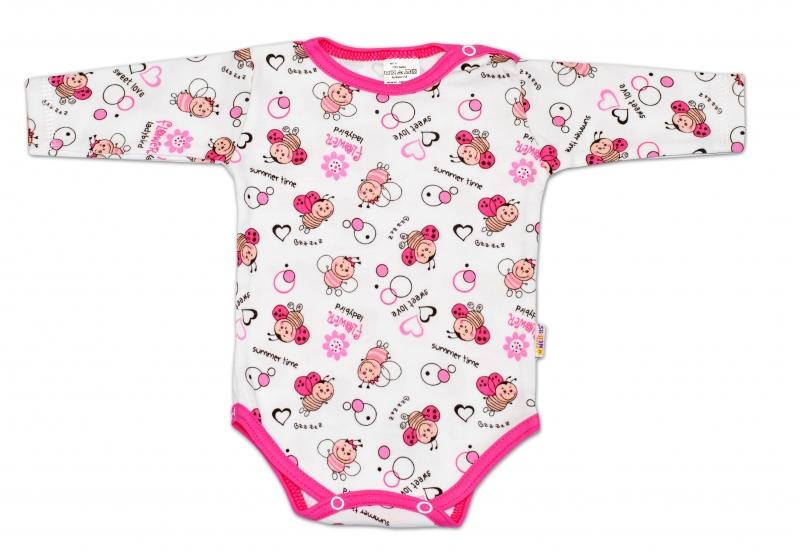 Body dl. rukáv Baby Nellys - LIENKA-56 (1-2m)