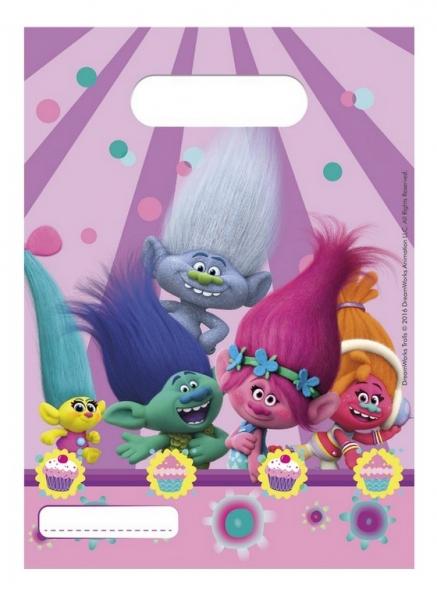 Rappa PROCOS taška párty Trollovia - Trolls 6 ks