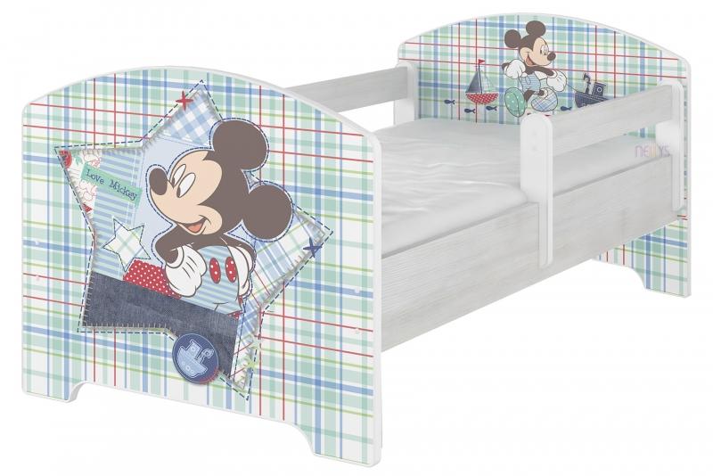 BabyBoo Detská posteľ Disney - Mickey Mouse, 140x70 cm
