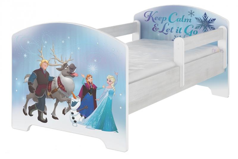 BabyBoo Detská posteľ Disney - FROZEN, 140x70 cm