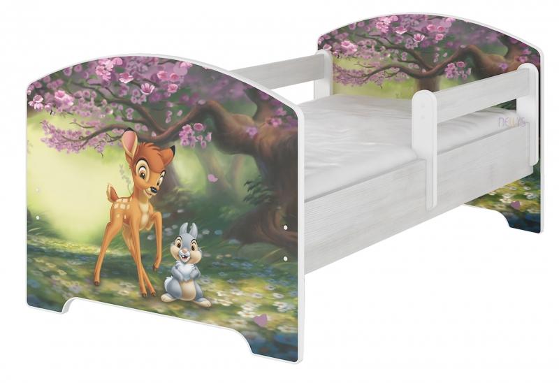 BabyBoo Detská posteľ Disney - BAMBI, 140x70 cm