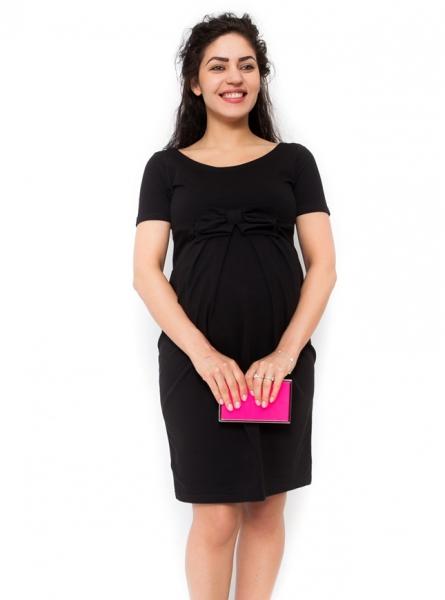 Tehotenské šaty Vivian čierne