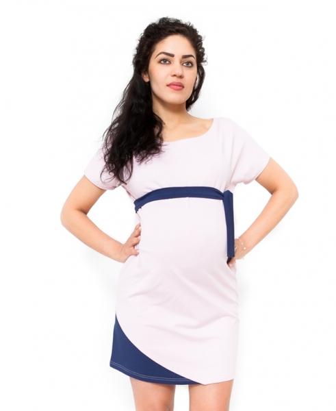 Tehotenské šaty Ines svetloružové