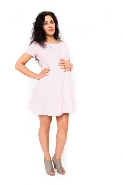 Tehotenské šaty Adela svetloružové veľ.S