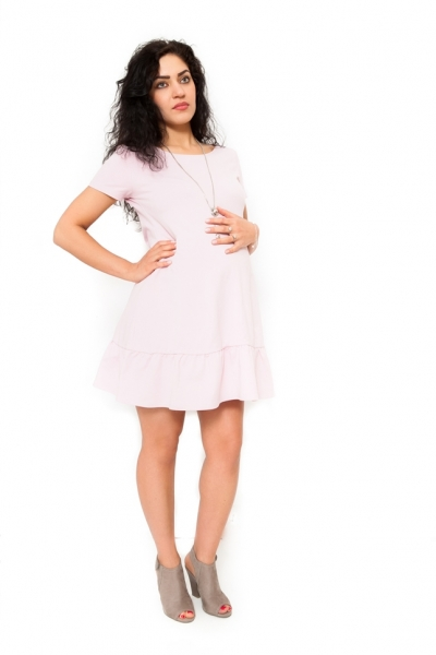 Tehotenské šaty Adela svetloružové