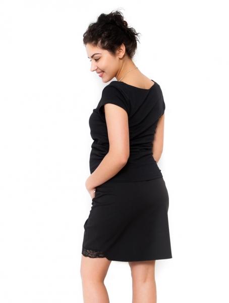 Tehotenské sukne Leda - čierná