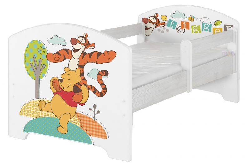BabyBoo Detská posteľ Disney - Medvídek PÚ a tigrík, 140x70 cm