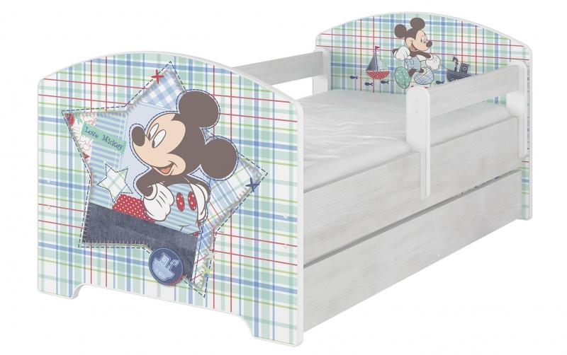 BabyBoo Detská postel Disney s šuplíkom - Mickey Mouse, D19