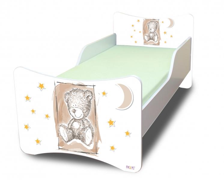 Detská posteľ NELLYS Sweet TEDDY - béžová, 140x70
