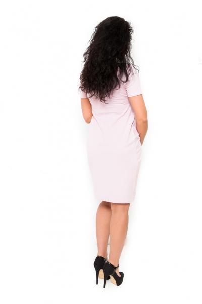 Tehotenské šaty Vivian svetloružové