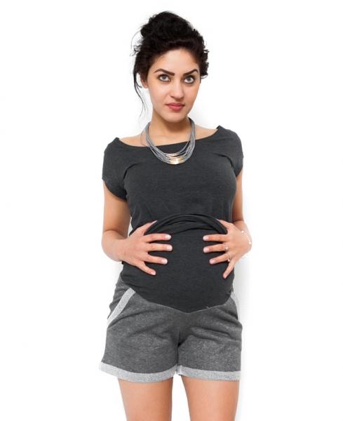 Tehotenské kraťasy Nadia - sivá