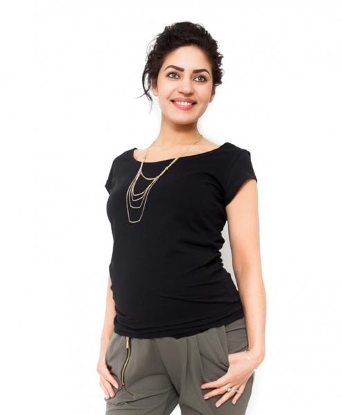 Tehotenské tričko/blúzka Celina - čierná, XL