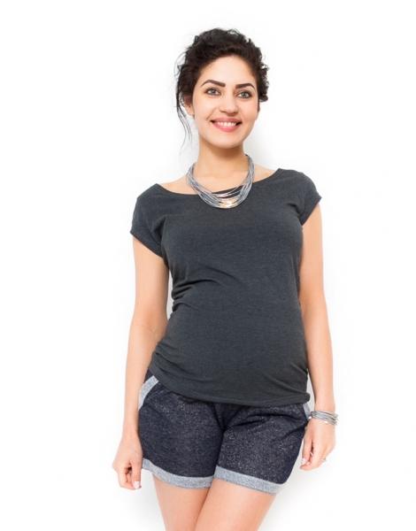 Tehotenské tričko - Celina - grafit