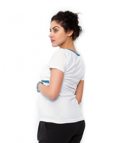 Tehotenské a dojčiace tričko ALDONA - biele