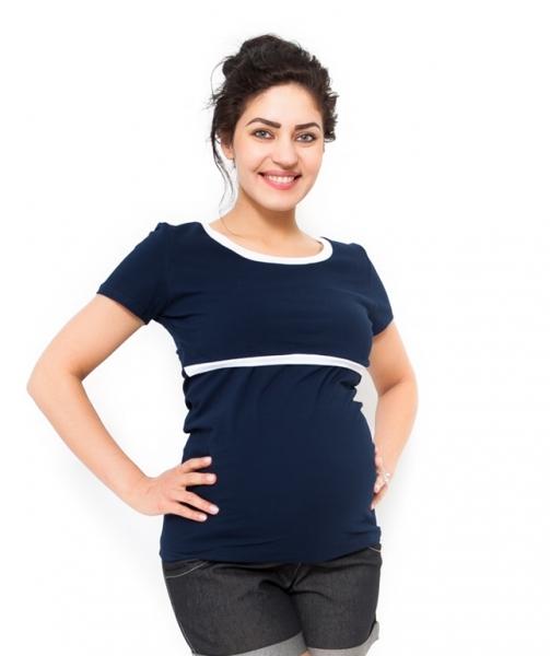 Be MaaMaa Tehotenské a dojčiace tričko - granát-M (38)
