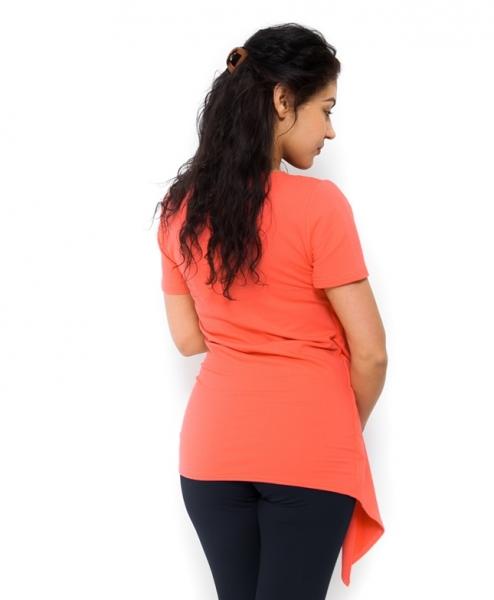 Tehotenské tričko/tunika vhodné aj na dojčenie Aida korálová