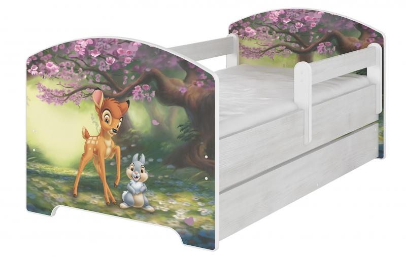 Detská postel Disney s šuplíkom - BAMBI