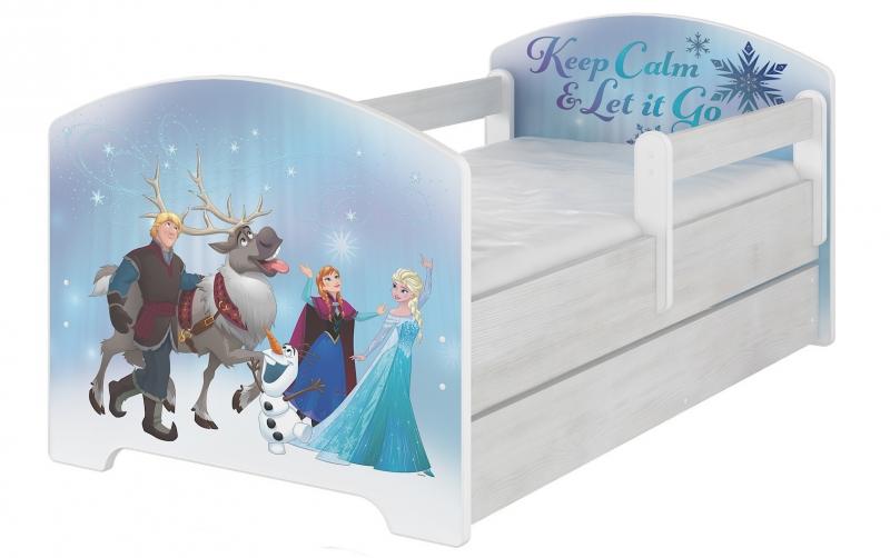 Detská postel Disney s šuplíkom - Frozen